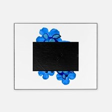 Blue Honu and Hibiscus Picture Frame