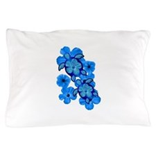 Blue Honu and Hibiscus Pillow Case
