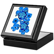 Blue Honu and Hibiscus Keepsake Box