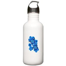 Blue Honu and Hibiscus Water Bottle