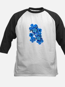 Blue Honu and Hibiscus Tee
