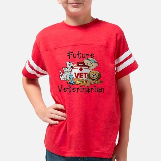 2-future veterinarian Youth Football Shirt