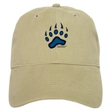 Blue Glow Bear Paw Baseball Cap