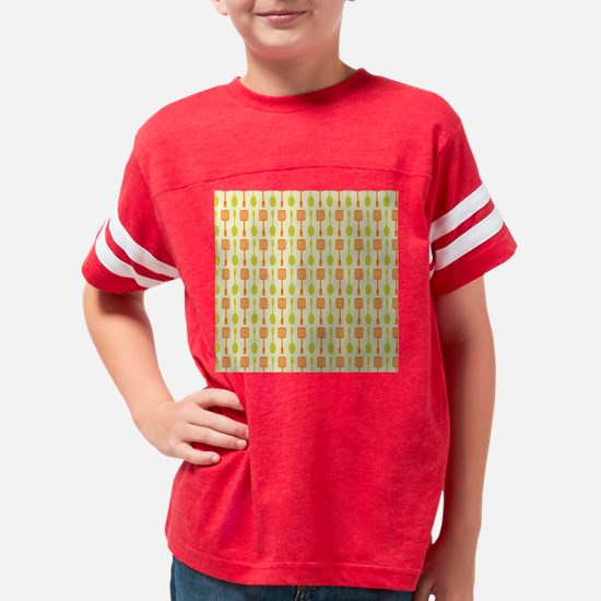 Retro Kitchen Cooking Utensil Youth Football Shirt