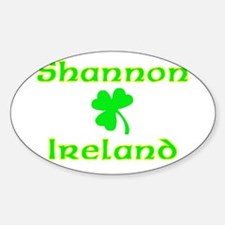 Shannon, Ireland Oval Decal