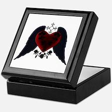 Black Winged Goth Heart Keepsake Box