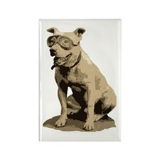 Vintage Pit Bull Rectangle Magnet
