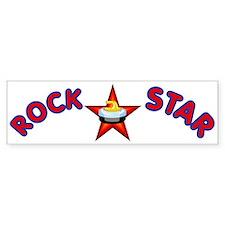"""""""Rock Star (Curling)"""" Bumper Bumper Sticker"""