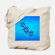 Blue Hibiscus Honu Tote Bag