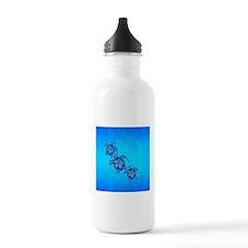 Blue Hibiscus Honu Water Bottle