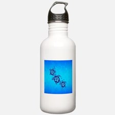 Blue Hibiscus Honu Water Bottle