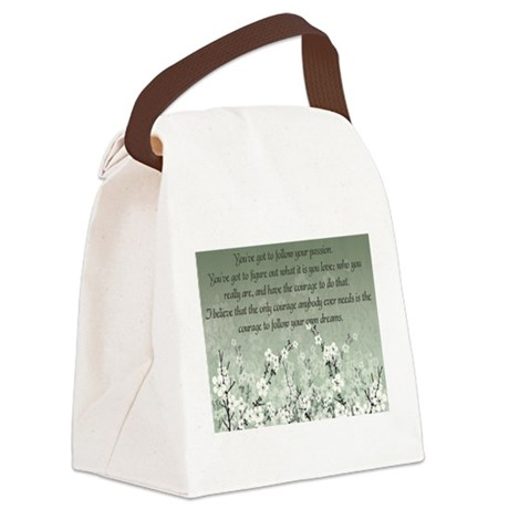 Follow Your Passion Canvas Lunch Bag