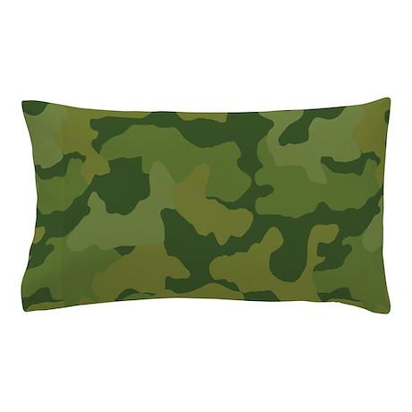 Green army camo pattern Pillow Case