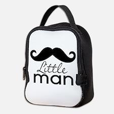 Mustache Little Man Neoprene Lunch Bag