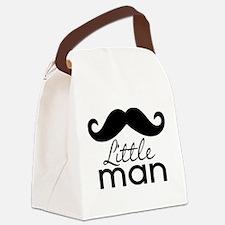 Mustache Little Man Canvas Lunch Bag