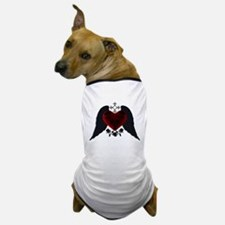 Black Winged Goth Heart Dog T-Shirt