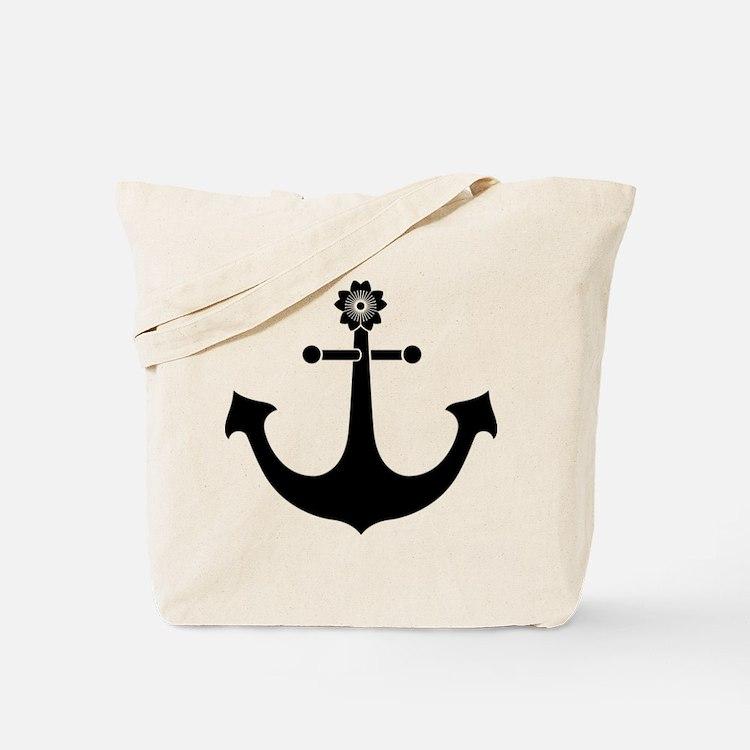 Navy anchor Tote Bag