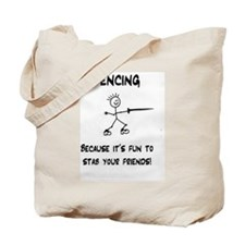 Unique Fencing Tote Bag