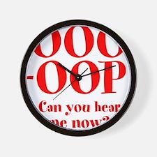 OOO-OOP Wall Clock