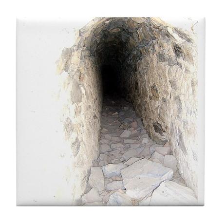 secret tunnel Tile Coaster