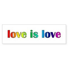Love Is Love Bumper Bumper Sticker