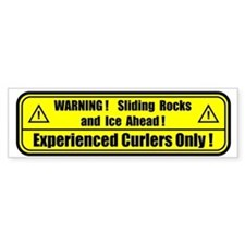 """Warning! Sliding Rocks..."" Bumper Bumper Sticker"