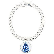 Blue Ship Anchor And Helm Bracelet