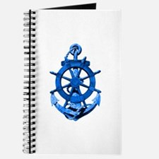 Blue Ship Anchor And Helm Journal