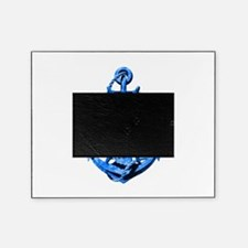 Blue Ship Anchor And Helm Picture Frame