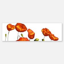 Poppies Bumper Bumper Stickers
