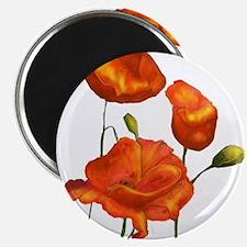 "Poppies (orange) 2.25"" Magnet (10 pack)"