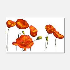 Poppies (orange) Car Magnet 20 x 12