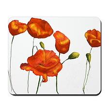 Poppies (orange) Mousepad