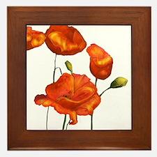 Poppies (orange) Framed Tile