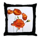 Red ladybug fairy Throw Pillows