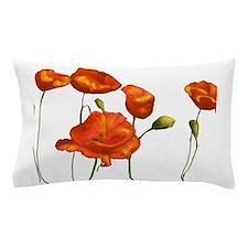 Poppies (orange) Pillow Case