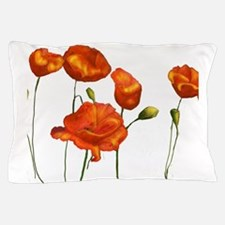 Poppies (orange) Pillow Case