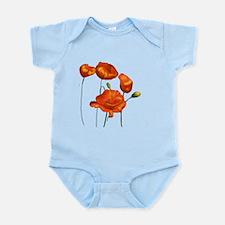 Poppies (orange) Infant Bodysuit