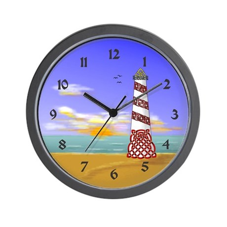 Lighthouse Wall Clock By Knotyourworld
