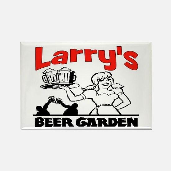LARRY'S BEER GARDEN Rectangle Magnet