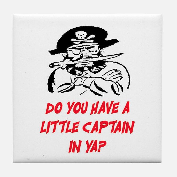 GOT A LITTLE CAPTAIN IN YA? Tile Coaster