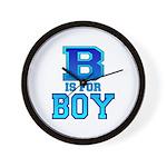 B is for Boy Wall Clock