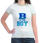 B is for Boy Jr. Ringer T-Shirt