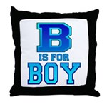 B is for Boy Throw Pillow