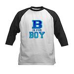 B is for Boy Kids Baseball Jersey