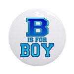 B is for Boy Ornament (Round)