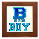 B is for Boy Framed Tile