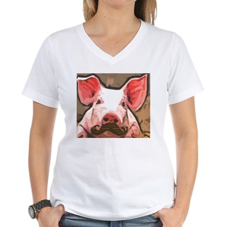 Charming Pig With Mustache T-Shirt