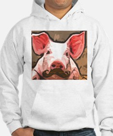 Charming Pig With Mustache Hoodie