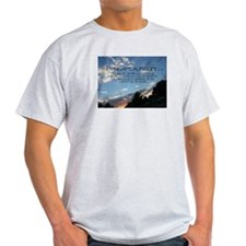 living a healing life clouds Ash Grey T-Shirt